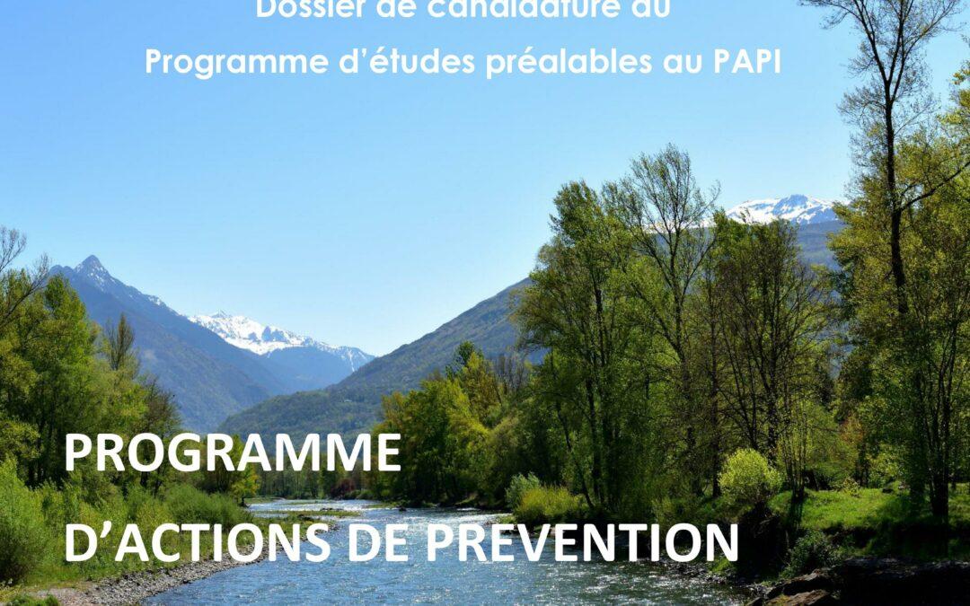 Programme d'études préalables au Programme d'Actions de Prévention des Inondations